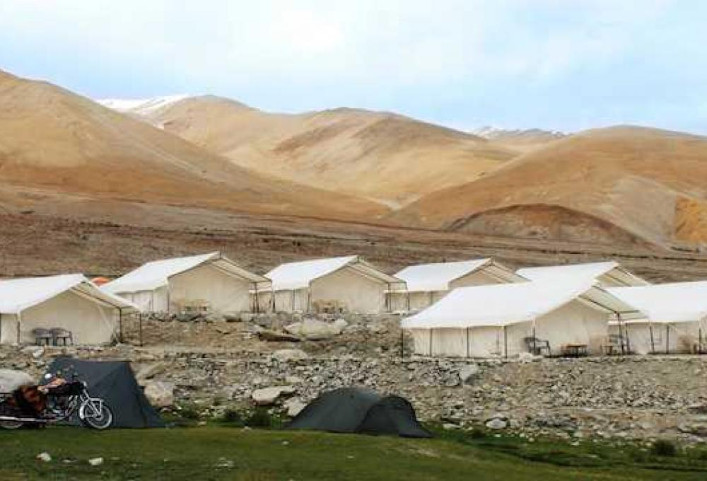 Camp Redstart In Pangong Lake